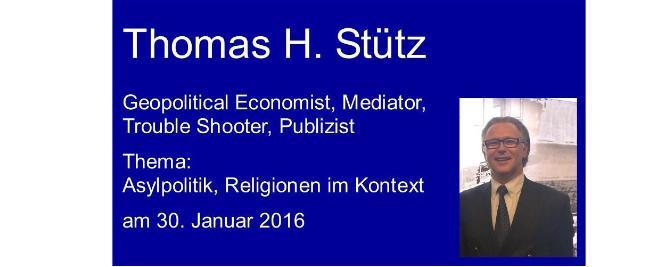 Thomas H. Stütz – Demokratie Schutzbund, deutsche Asylpolitik, Religionen