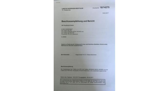 Ergänzende Hinweise zum Thema NRW
